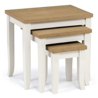 Table Nest - Julian Bowen Davenport Nest of Tables DAV009 in Ivory