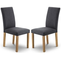 Dining Chair - Pair of Hastings Slate Grey Dining Chairs HAS001
