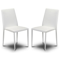 Dining Chair - Pair of Jazz Faux Leather Stacking Chairs JAZ001