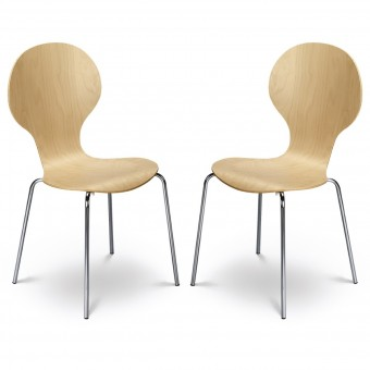 Dining Chair - Pair of Julian Bowen Keeler Dining Chairs KEE002