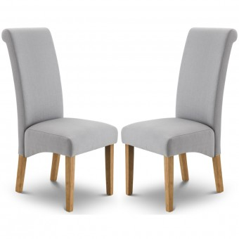 Dining Chair - Pair of Rio Scrollback Steel Grey Dining Chair RIO101