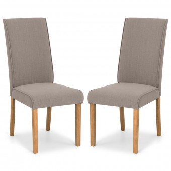 Dining Chair - Pair of Julian Bowen Seville Taupe Dining Chairs SEV002