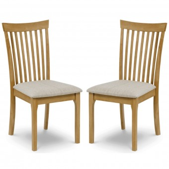 Pair of Oak Dining Chairs Ibsen IBS003 by Julian Bowen