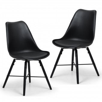 Pair of Black Dining Chairs Kari KAR101 by Julian Bowen