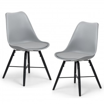Pair of Grey Dining Chairs Kari KAR102 by Julian Bowen