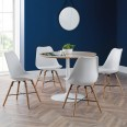 Pair of White Dining Chairs Kari KAR103 by Julian Bowen