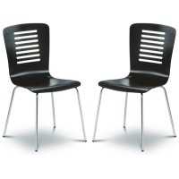 Dining Chair - Pair of Julian Bowen Kudos Black Dining Chairs KUD002