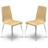 Dining Chair - Pair of Mandy Dining Chairs in Maple or White