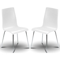 Dining Chair - Pair of Mandy White Dining Chairs MAN006 by Julian Bowen