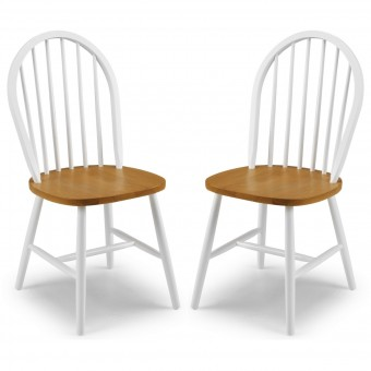 Dining Chair - Pair of Oslo White and Oak Dining Chairs OSL102