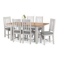 Dining Set - Richmond Dining Table and 6 Dining Chairs RIC801 in Grey and Oak