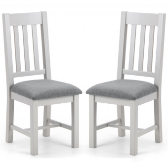 Dining Chair - Pair of Julian Bowen Richmond Dining Chairs RIC210 in Grey and Oak