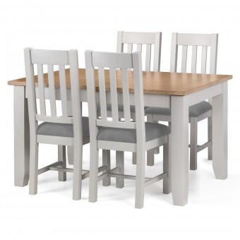 Dining Set - Richmond Dining Table and 4 Dining Chairs RIC901 in Grey and Oak