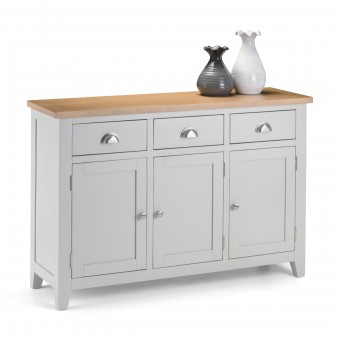 Sideboard Oak and Grey Richmond Cupboard RIC208 by Julian Bowen