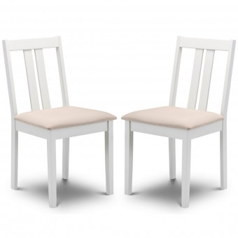 Dining Chair - Pair of Rufford Ivory Dining Chairs RUF006