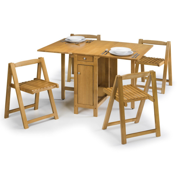 Julian Bowen Savoy Dining Set SAV101 - Light Oak