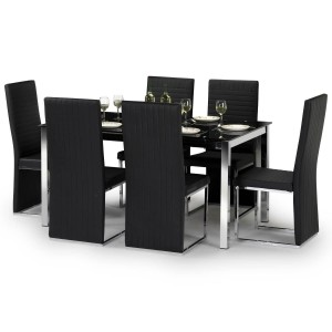 Dining Set - Tempo Dining Table and 6 Dining Chairs TEM801..