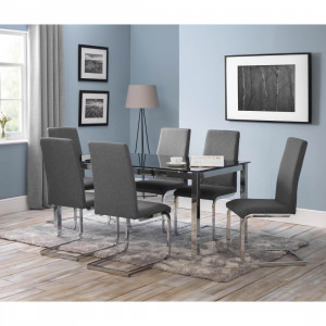 Dining Set - Tempo Dining Table and 6 Roma Dining Chairs TEM904..
