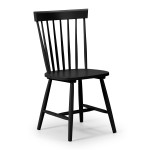 Dining Chair - Pair of Torino Black Dining Chairs TOR209