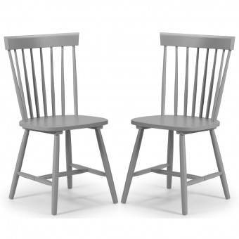 Dining Chair - Pair of Torino Lunar Grey Dining Chairs TOR205