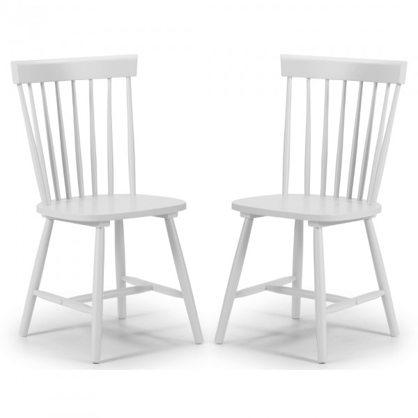 Dining Chair - Pair of Torino White Dining Chairs TOR207
