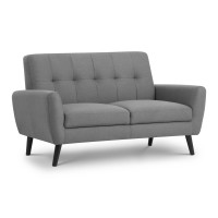 Grey Sofa - Monza 2 Seater Sofa MON501 by Julian Bowen