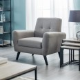Grey Armchair - Monza Fabric Arm Chair MON503 by Julian Bowen