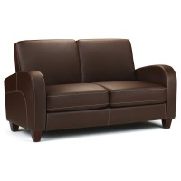 2 Seater Sofa Vivo in Brown Faux Leather VIV002  by Julian Bowen