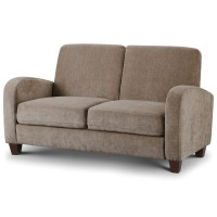 2 Seater Sofa - Vivo in Mink Chenille Fabric VIV006 by Julian Bowen