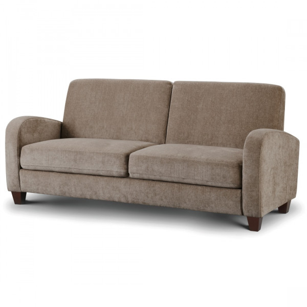 3 Seater Sofa - Vivo Mink Chenille Fabric 3 Seat Sofa VIV007 by Julian Bowen