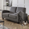Sofa Bed Vivo Grey Chenille Fabric VIV104 by Julian Bowen
