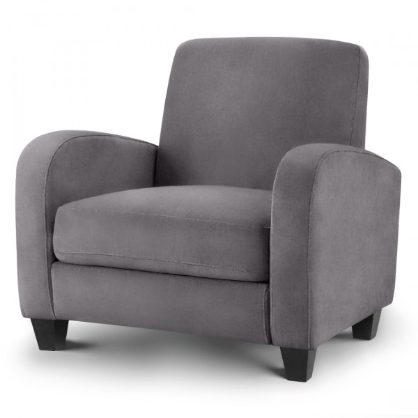 Armchair Vivo Grey Fabric Chair VIV101 by Julian Bowen
