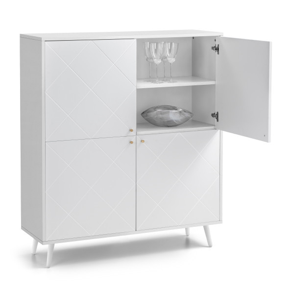 Storage Cabinet White Moritz Storage Cupboard MOR101 by Julian Bowen