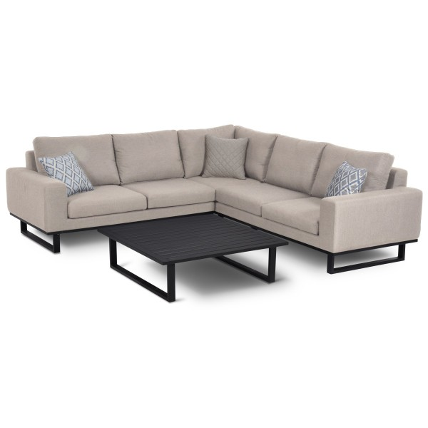 Garden Furniture - Maze Ethos Corner Sofa Set in Taupe Chine FB-ETH-CSG-TP