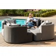 Garden Furniture - Maze Snug Lifestyle Suite in Mixed Grey FB-SNU-CSG-FLST