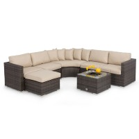 Maze Rattan Barcelona Corner Sofa Set FLA-103520 Ice Bucket