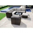 Maze Rattan London Corner Sofa Set with Armchair FLA-103540