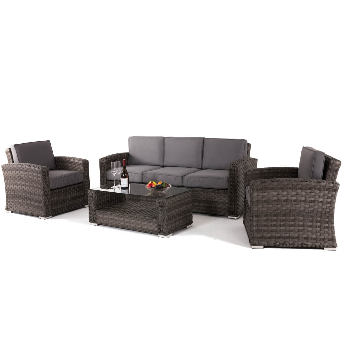 Maze Rattan Furniture Victoria 3 Seat Sofa Set Vic 502050