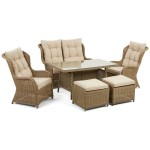 Maze Rattan Furniture Winchester Sofa Dining Set WIN-205094
