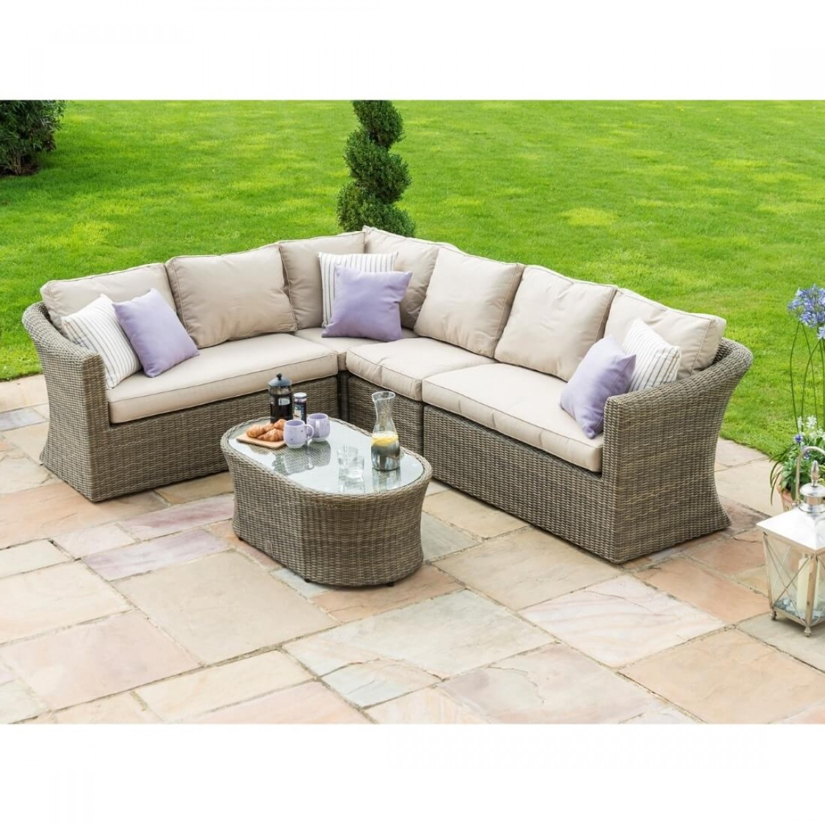 Alexandria Rattan Corner Sofa Reviews: Maze Rattan Furniture Winchester Large Corner Sofa Set WIN
