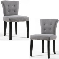 Dining Chairs - Pair of Shankar Sandringham Stonewash Grey Accent Chairs 085-18-01-01-01