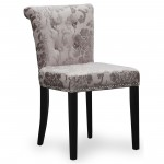 Dining Chairs - Pair of Sandringham Baroque Mink Accent Chairs 085-34-02-01-01