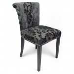 Dining Chairs - Pair of Sandringham Baroque Charcoal Accent Chairs 085-34-26-01-01