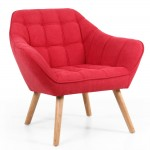 Armchair Red Coral Studio Chair 117-45-65-05-01 by Shankar