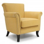 Armchairs - Shankar Hayden Yellow Armchair, Fabric Armchair