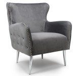 Armchairs - Shankar Marquess Wing Back Armchair in Grey 024-09-03-10-01