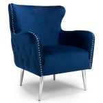 Armchairs - Shankar Marquess Wing Back Armchair in Ocean Blue 024-09-32-10-01