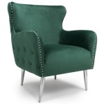 Armchairs - Shankar Marquess Wing Back Armchair in Green 024-09-40-10-01
