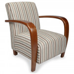 Armchairs - Shankar Restmore Regency Stripe Arm Chair 631-04-11-24-03