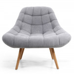 Cocktail Chair Shell Light Grey Armchair 097-45-46-05-01 by Shankar